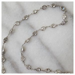 Dogeared Delicate Silver Crystal Short Necklace
